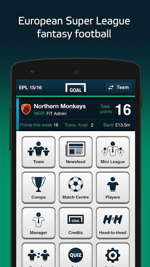 Goal Fantasy Football- screenshot