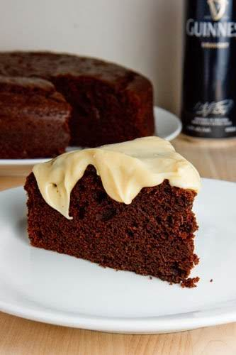 "Chocolate Stout Cake with Baileys Cream Cheese Frosting""Stout brings out the flavours..."