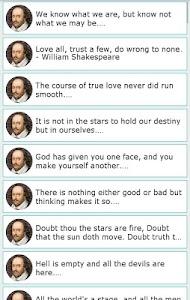 101 Great Saying by Shakespear screenshot 9
