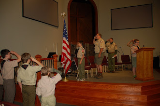 Photo: Troop 433 Court of Honor at East Cobb Presbyterian Church