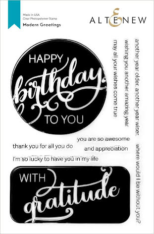 Altenew Clear Stamps 6X8 - Modern Greetings