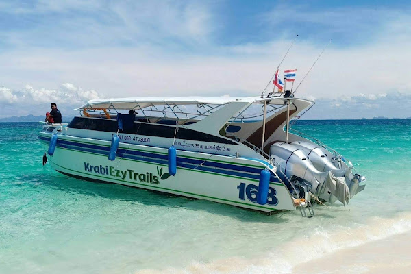 Head by Ezy Trails speed boat to Phi Phi Leh