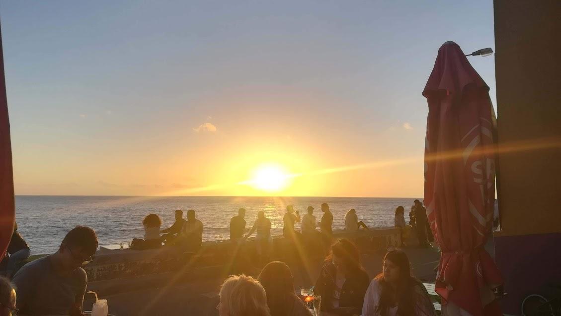De zonsondergang kan heel mooi zijn in Paúl do Mar