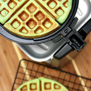 Pandan Waffles Banh Kep La Dua.