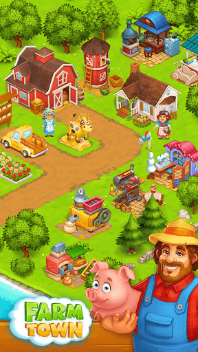 Farm Town: Happy village near small city and town  screenshots 12