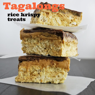 Tagalongs Rice Krispy Treats