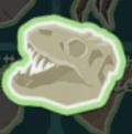 ティラノサウルスのずがい骨の化石