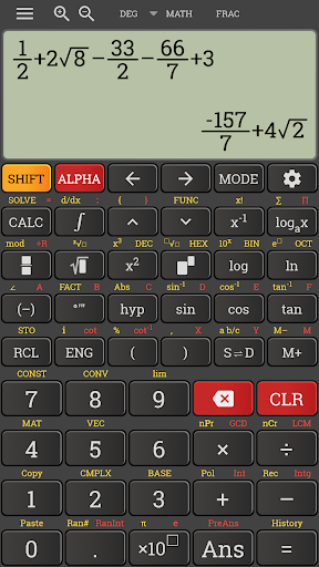 Natural mathematics display fx calculator 991 ms 4.0.6-25-05-2019-00-release screenshots 2