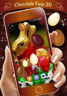 Chocolate Eggs 3D Wallpaper - náhled