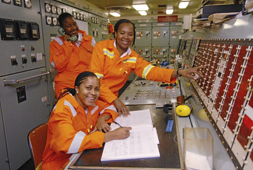 The writer feels Pillay's comments are a stumbling block to the advancement of women engineers like this trio of Sibongile Nomala, front, Nomazwi Ntsinjana and Kim Mainguy.