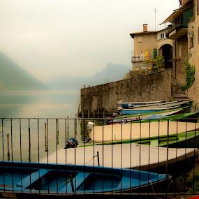 Gandria (Ticino- Svizzera) by Mariateresa Toledo - Landscapes Waterscapes ( barche, lago, svizzera, ticino, gandria )