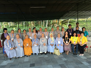 Photo: ANJA TANHANE's mindfulness workshop participants, most of them were Vietnamese nuns, so it all had to be translated. Courtesy of Anja Tanhane.