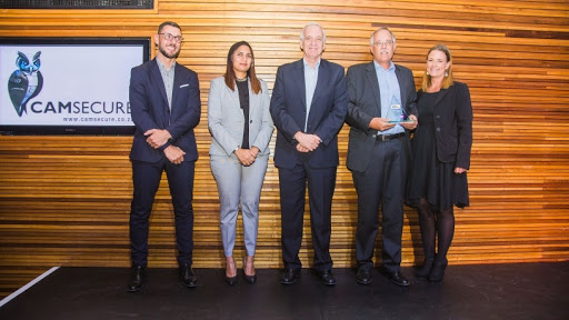 Camsecure receiving award for long -standing partnership 2018.