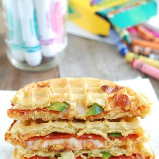 Pizza Waffle Sandwich