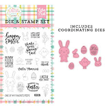 Echo Park Easter Wishes Clear Stamp & Dies - Easter Memories UTGÅENDE