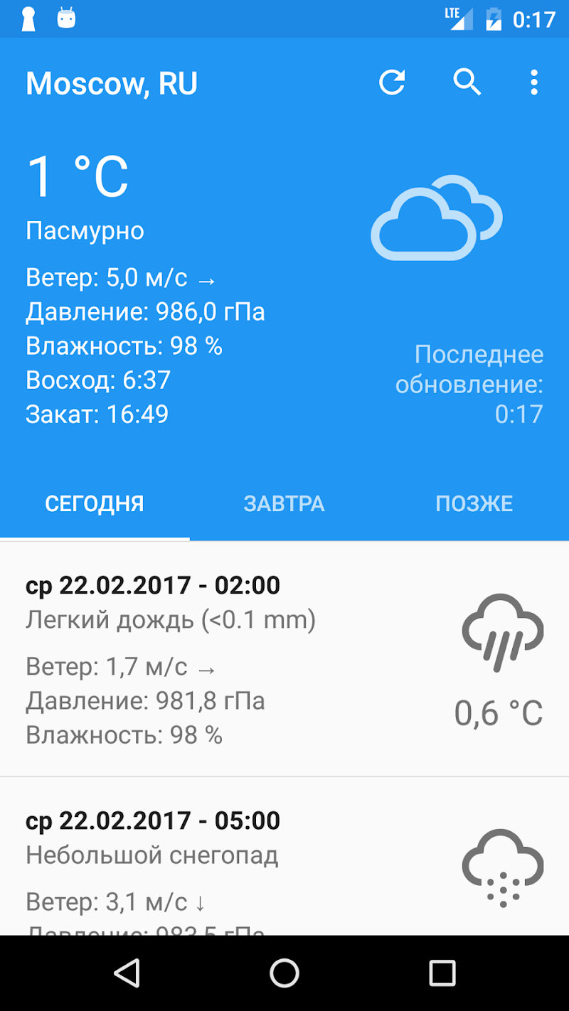 Скриншот Perfect Weather