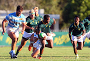 Caleb Dingaan of Junior Springboks during the Under 20 International Series match between South Africa and Argentina at Paul Roos Gymnasium on April 17, 2019 in Stellenbosch, South Africa.