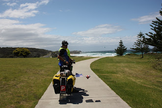 Photo: Year 2 Day 168 -  Rog on the Fantastic Bike Track Just Outside Narooma