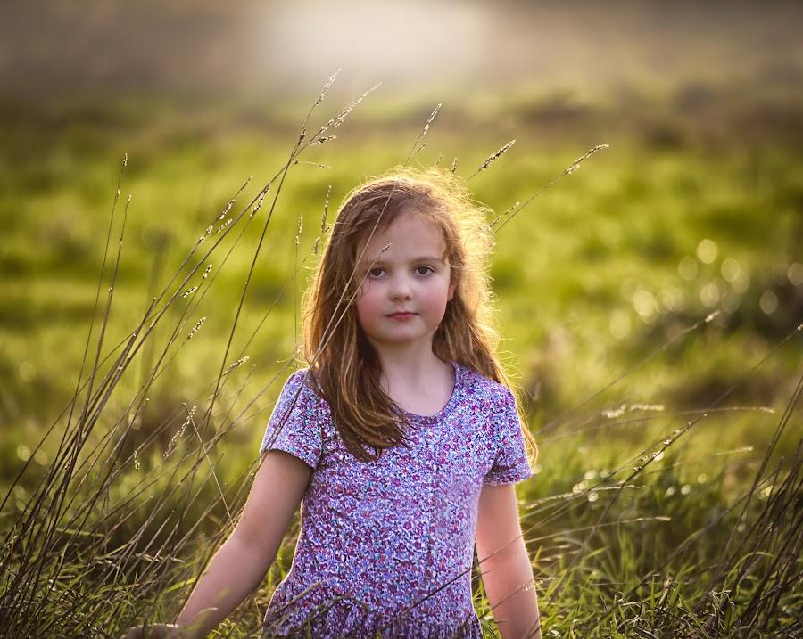 Sunshine by Una Williams Photos - Babies & Children Children Candids ( field, child, girl, grass, child portrait )
