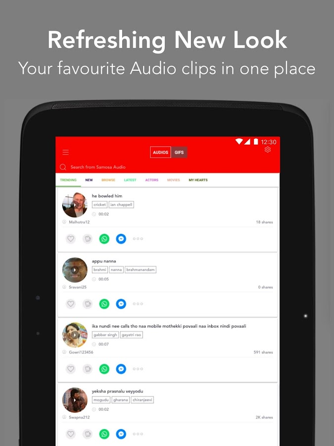 Samosa - Audio Clips & GIFs for chat - Android Apps on Google Play