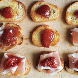 Preserved Strawberries and Jamón Serrano on Little Toasts from 'Canal House Cooks Every Day'.