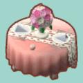 バラのウェディングテーブル