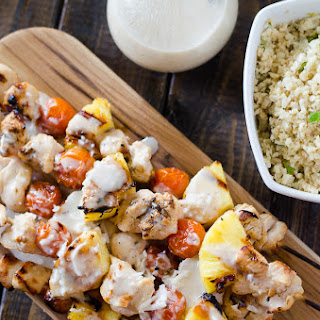 Pina Colada Chicken Skewers.