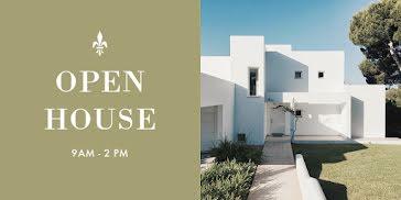 Modern Open House - Twitter Post template