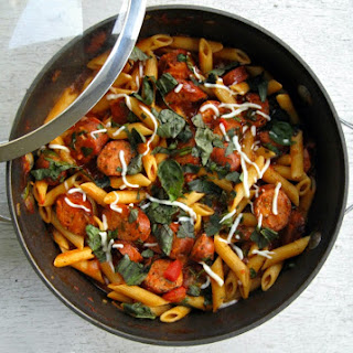 Penne With Chicken Sausage.