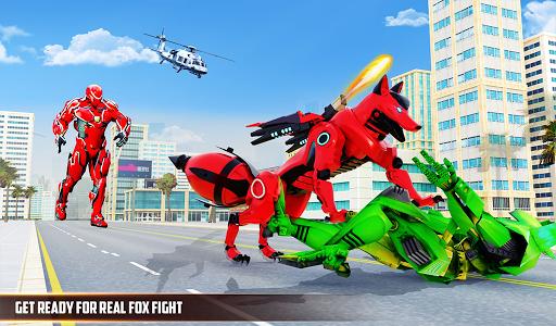 Wild Fox Transform Bike Robot Shooting: Robot Game 12 screenshots 15