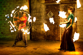 Photo: This is Tash and Sean. They like to play with fire. I'll be hanging with them some at Burning Man.