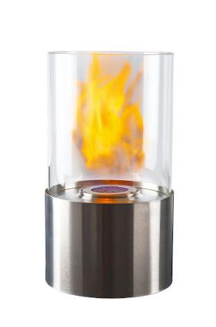 Rund rostfri bioetanollykta - 28cm