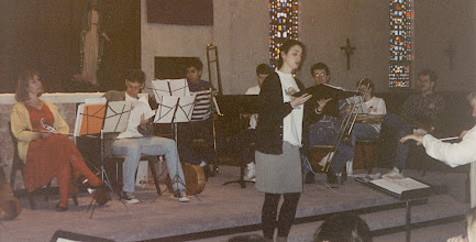 Photo: March 1994; Philipus Jacobus Rittler Missa Carolina à 24 from 1675 in its first modern performance. Rebecca Lister, soprano soloist.