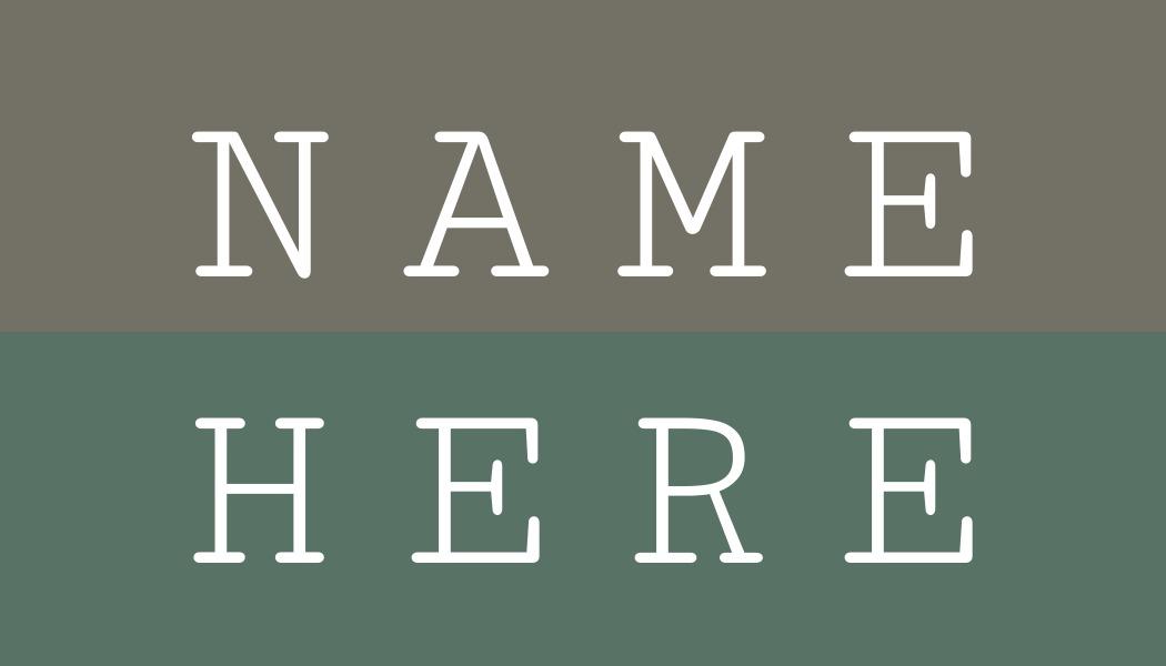 name tag template split