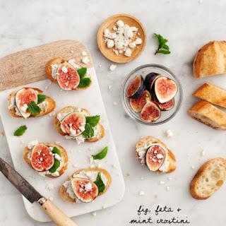Fig, Feta & Mint Crostini