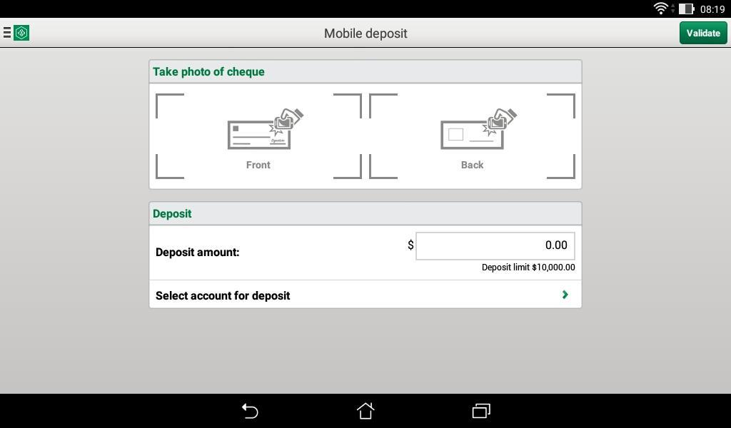 Desjardins mobile services- screenshot