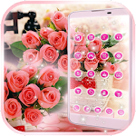 Pink Rose Love Theme Icon
