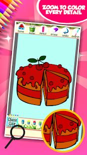 Sladký dort omalovánky k vytis - náhled