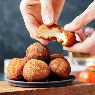Vegan Fried Goat Cheese Balls.
