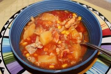 Tomato Potato Southwestern Soup