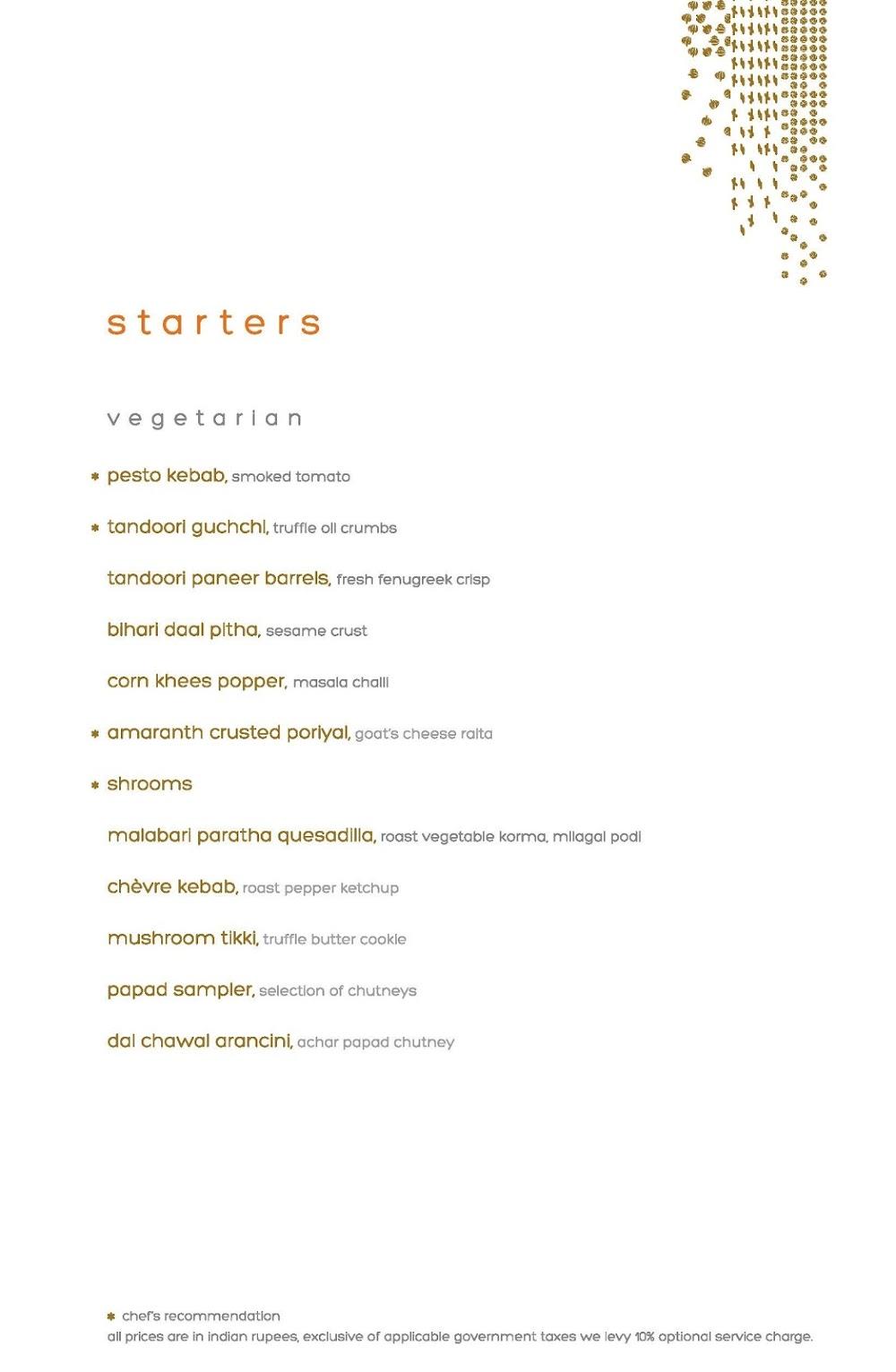 Masala Library menu 7