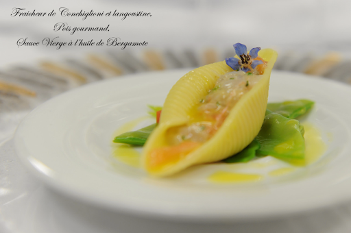 Ponant-LePonant-dining.png - Fine dining on Le Ponant may include seafood with traditional French touches.