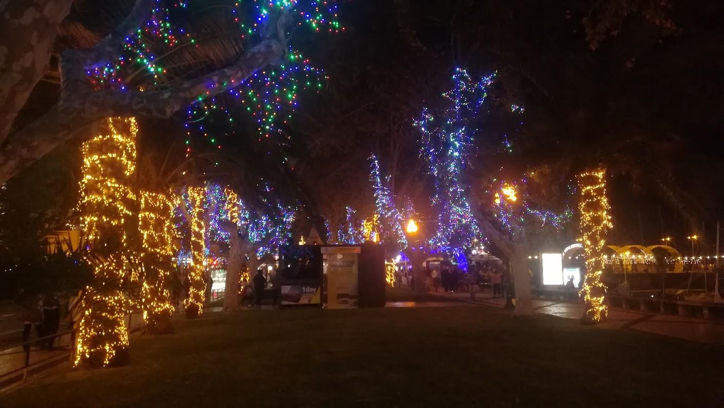 Overvloedige kerstlichttjes in funchal