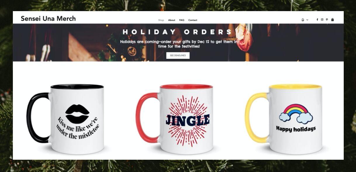holiday order banner