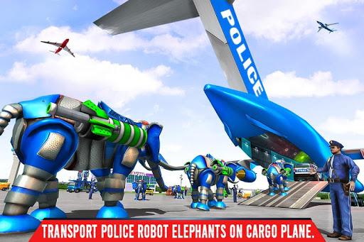 Police Elephant Robot Game: Police Transport Games 1.0.1 1