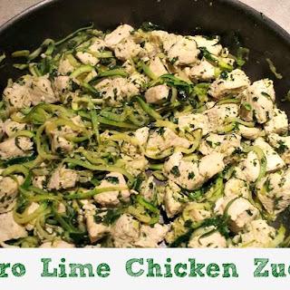 Cilantro Lime Chicken Zucchini