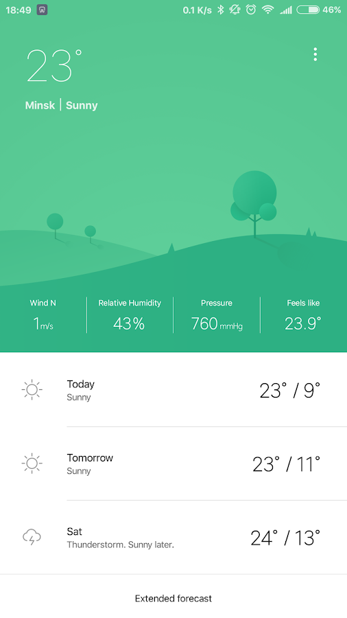 Weather Mate (Weather M8)– captura de ecrã