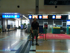 Photo: journey hometown in summer 2013 shakes doubts and plows hope: here benzrad focused in Harbin airport near 5am while the flight launchs at 8am, just for we first time to take and can't afford to miss.