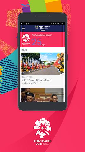 18th Asian Games 2018 Official App 1.0.2 screenshots 1