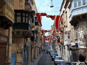 Photo: Valletta. St. Paul Street brightly decorated.  http://www.loki-travels.eu/